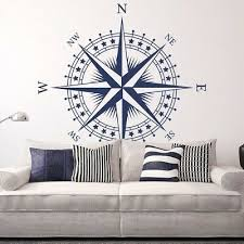 "Details about <b>Compass</b> Rose ""The Patriot"" <b>Vinyl</b> Wall/Ceiling Decal ..."