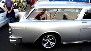 Awesome silver 1955 Chevy Bel Air Nomad - YouTube