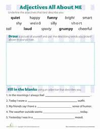 3 words that describe you adjectives that describe you worksheet education com