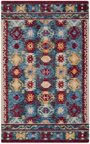 safavieh aspen apn505a blue red area rug