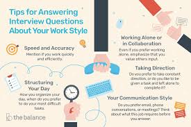 Medical Sales Interview Questions How To Answer Interview Questions About Your Work Style