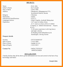 Letter Format In Hindi Resume In Hindi Format Lovely Indian