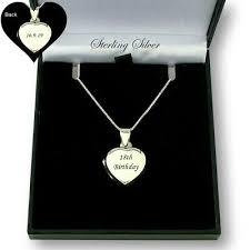 sterling silver heart locket necklace