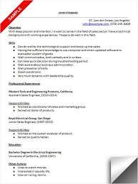 Modern Engineer Resume Sales Engineer Resume Sample Resume Examples Resume