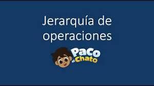 Chato es una expresión bogotana para referirse. Jerarquia De Operaciones Con Paco El Chato Youtube