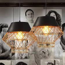 led modern pendant lamps industrial black gold pendant lights fixture european vintage home indoor lighting restaurant cafes pub lamp track lighting