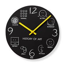 history of art wall clock in color on wall clock art design with history of art wall clock moma design store