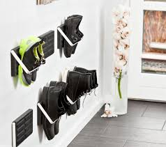 Shoe Organizer On Wall Wall Mounted Shoe Storage Single Pair Of Shoes Loca From