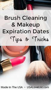 beauty care brush cleaning and makeup expiration dates