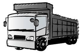トラックの無料イラスト