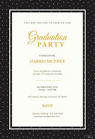 Graduation Party Invitation Template Unique Free Graduation
