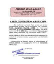 Formato Referencia Personal Carta De Referencia Personal Formatos Y Modelos Legales Http