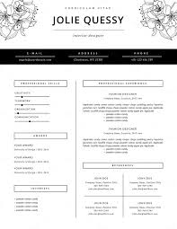 Fashion Resume Template Interesting Best Fashion Resume Templates Fashion Resume Template Resume