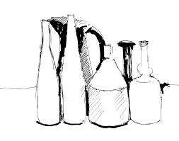 morandi pen drawing