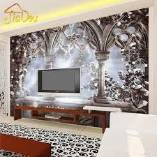 Small Picture Custom 3D Photo Wallpaper European Retro Large Mural TV Backdrops