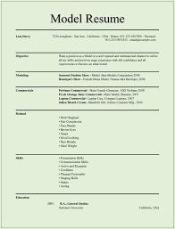 Resume Example 35 Child Modeling Resume Sample Baby Modeling