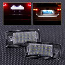 Audi A3 Led License Plate Lights Us 8 82 51 Off Citall 2x Error Free 18 Led License Plate Lights Lamp 68e0807430a 8e0807430b For Audi A3 A4 A5 A6 A8 Q7 2004 2005 2006 2007 2008 In