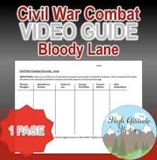 Civil War Combat Bloody Lane Original Video Guide Tpt