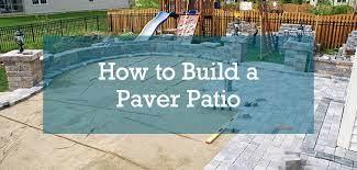 how to build a paver patio budget
