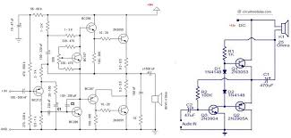 circuit of audio lifier using transistor for car