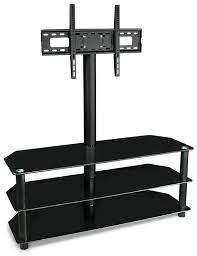 Tv Stands For Lcd Tvs Amazoncom Mount It Tv Center Stand With Mount And Glass