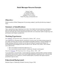 Retail Manager Resume Retail Manager Resume Example We How To Write A Job 48