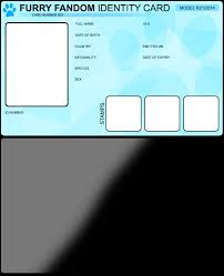 Make An Id Card Furry Id Card Make Your Own By Replictuanione Fur