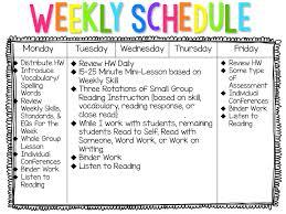 My Weekly Schedule My Literacy Block Schedule The Creative Apple Teaching Resources