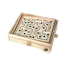 Wooden Maze Game With Ball Bearing Tobar Wooden Labyrinth Puzzle Amazoncouk Toys Games 11