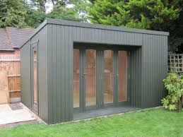 summer house lighting. Grey Modern House Design With Garden Summer Shed Can Add The Beauty Inside Warm Lighting It Has Glasses E