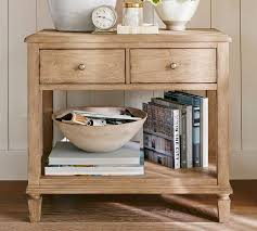amazing sausalito bedside table pottery barn intended for bed side tables modern