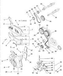1997 dodge avenger timing belt cover and balance shafts thumbnail 1