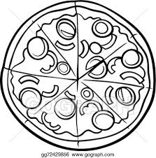 italian restaurant clipart black and white. Simple And Italian Pizza Cartoon Coloring Page And Italian Restaurant Clipart Black White E