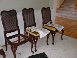 how to reupholster a dining room chair fortikur reupholstering dining room chairs with springs