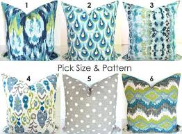 blue and green throw pillows. Picturesque 24x24 Decorative Pillows Large Throw Blue Turquoise And Green 1