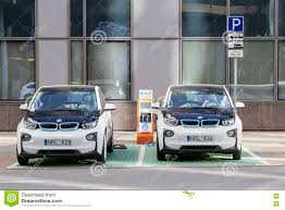 Vilnius Lithuania August Electric Car Charging Station