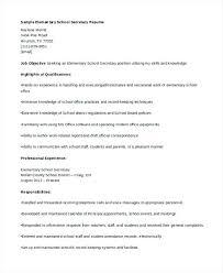 Resume Sample For Secretary Secretary Resume Format Secretary Resume Objective Examples