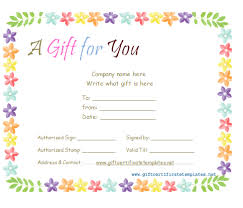 Free Printable Gift Certificates Template Gift Voucher Template Word