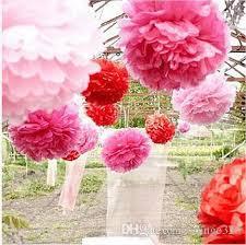 Make Tissue Paper Flower Balls 2019 Hanging Ball Flower Decorative Tissue Paper Pom Poms Flower
