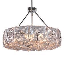 crystorama collins 6 light polished chrome chandelier
