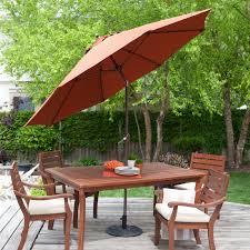spun poly push on tilt patio umbrella with 40 lb base included com