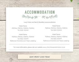 wedding accommodations template wedding hotel information card template images template design ideas