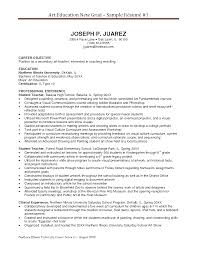 Simple Secondary Art Education New Grad Teacher Resume Example For