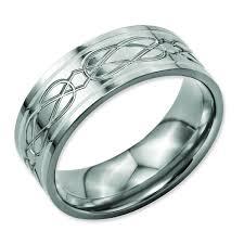mens celtic knot wedding bands. titanium sterling silver inlay celtic knot flat 8mm polished men\u0027s wedding band mens bands