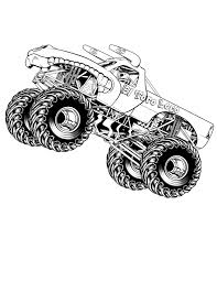 Monster Truck Coloring Page Outstanding Sheet Picture Ideas Free