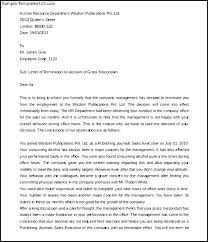 Sample Termination Letter For Misconduct Employee Free Templates