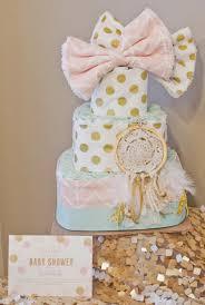 Dream Catcher Baby Shower Cake The Turnage's Rachel's Boho Dreamcatcher Themed Baby Shower 7