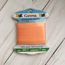 <b>SR</b>-<b>7 7</b> мм <b>Лента</b> декоративная <b>Gamma</b> шелковая №059 ...