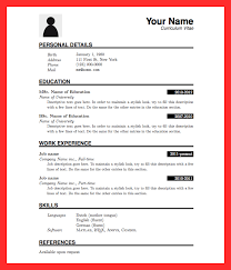 Formal Resume Sample Good Resume Format