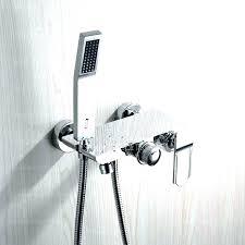 hand held shower diverter tub spout with handheld shower hand held shower bath collections external bathtub